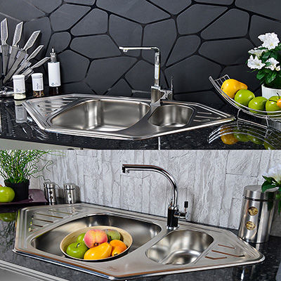 w17 sp ltischarmatur sp le wasserhahn waschbecken einhebel armatur bad k chen ebay. Black Bedroom Furniture Sets. Home Design Ideas