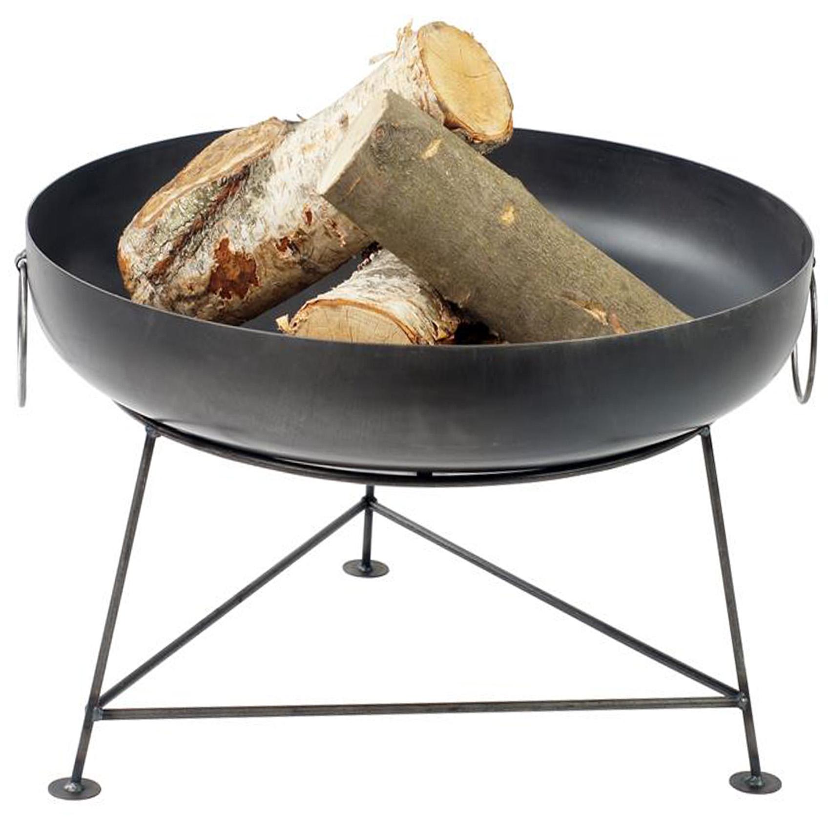 Feuerschale mit Deckel 60cm Feuerkorb Pflanzschale Grillschale Grill Lagerfeuer