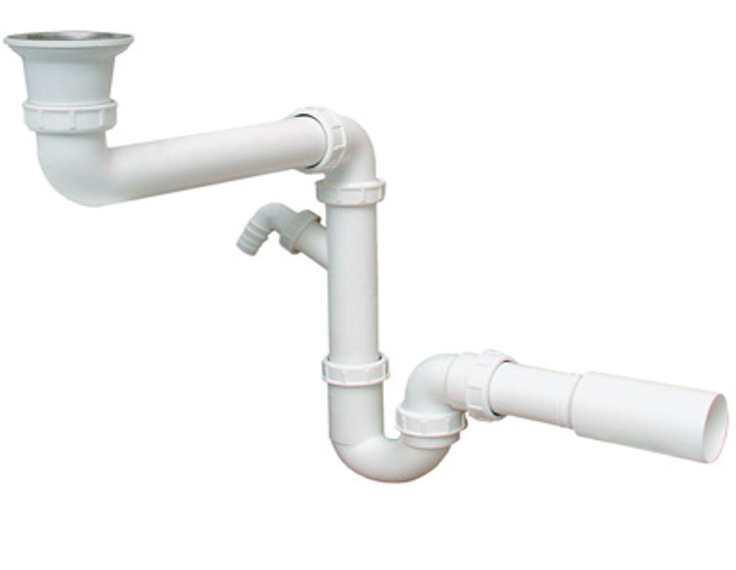 Küchen Ablaufgarnitur Siphon Sifon Küchenspühle geruchsverschluss