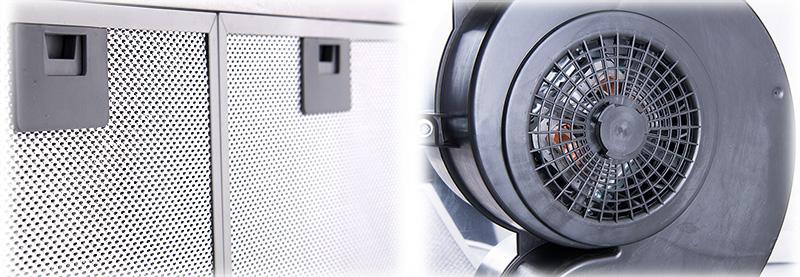 dunstabzugshaube unterbauhaube dunstabzug edelstahl und licht umluft abluft esse. Black Bedroom Furniture Sets. Home Design Ideas