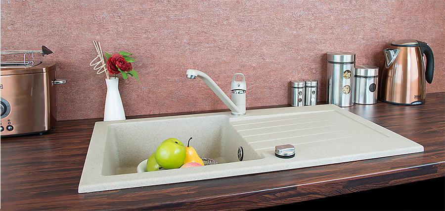 granit k chensp le einbausp le sp le armatur siphon drehexcenter siebkorb. Black Bedroom Furniture Sets. Home Design Ideas