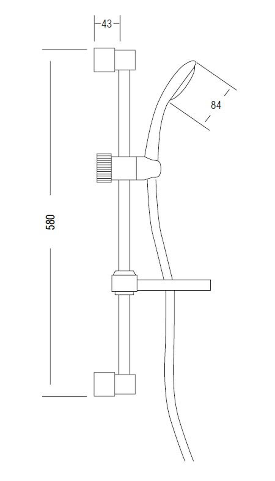 dusch set weiss handbrause duschstange duschschlauch brausegarnitur seifenschale ebay. Black Bedroom Furniture Sets. Home Design Ideas