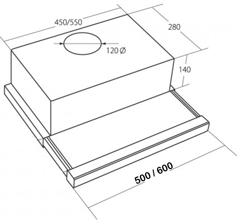 dunstabzugshaube edelstahl flachschirm einbau abzugshaube dunstabzug esse 50cm. Black Bedroom Furniture Sets. Home Design Ideas