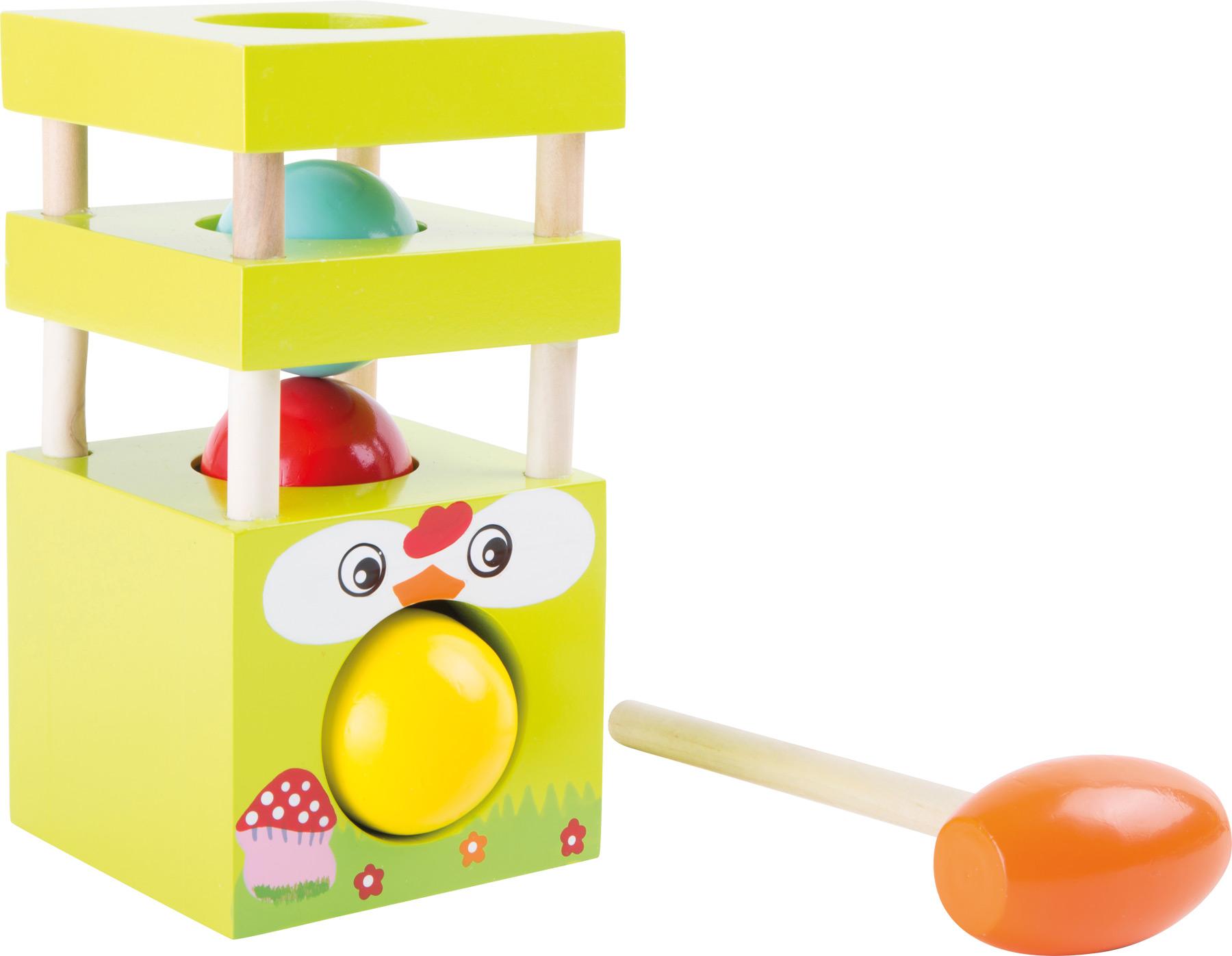 Knock ball tower hen wood children motor skills game for Kitchen set zabawka