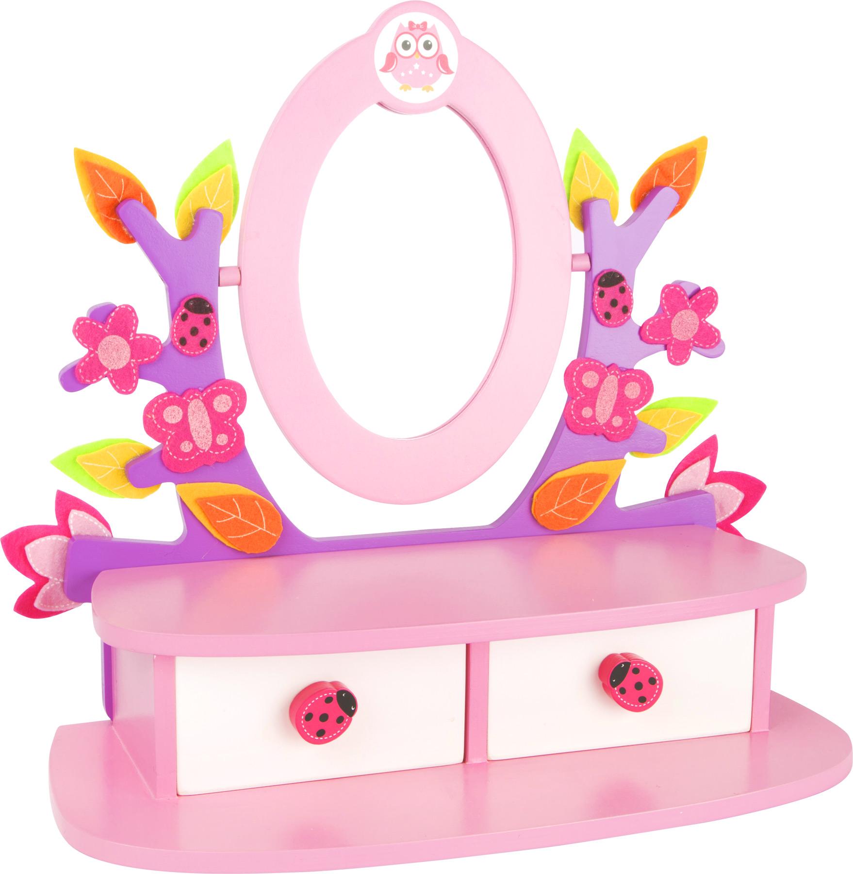 bunter schminktisch aus holz frisiertisch kinder schminken mit spiegel ebay