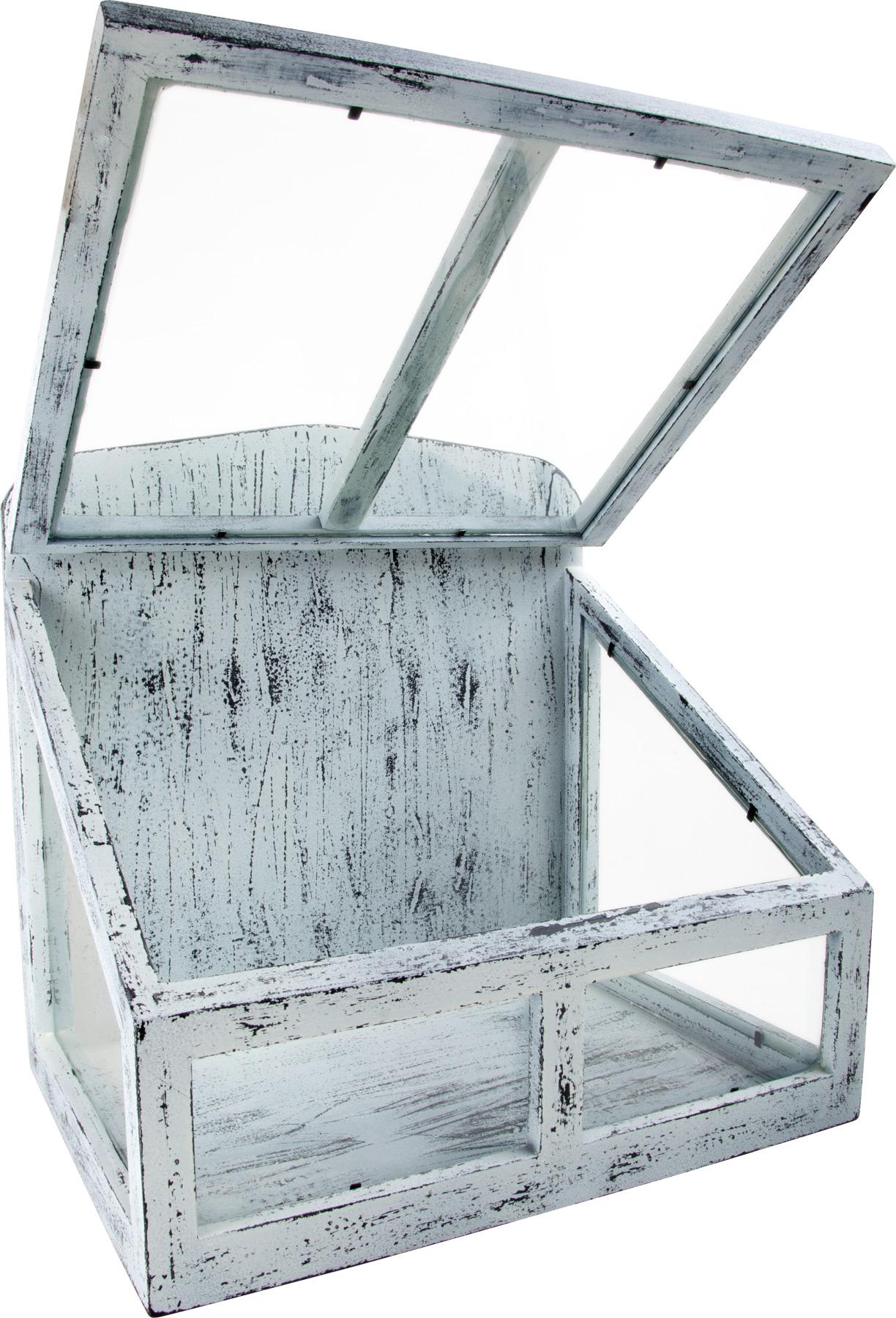 gew chshaus klimakammer shabby chic f r die fensterbank ebay. Black Bedroom Furniture Sets. Home Design Ideas