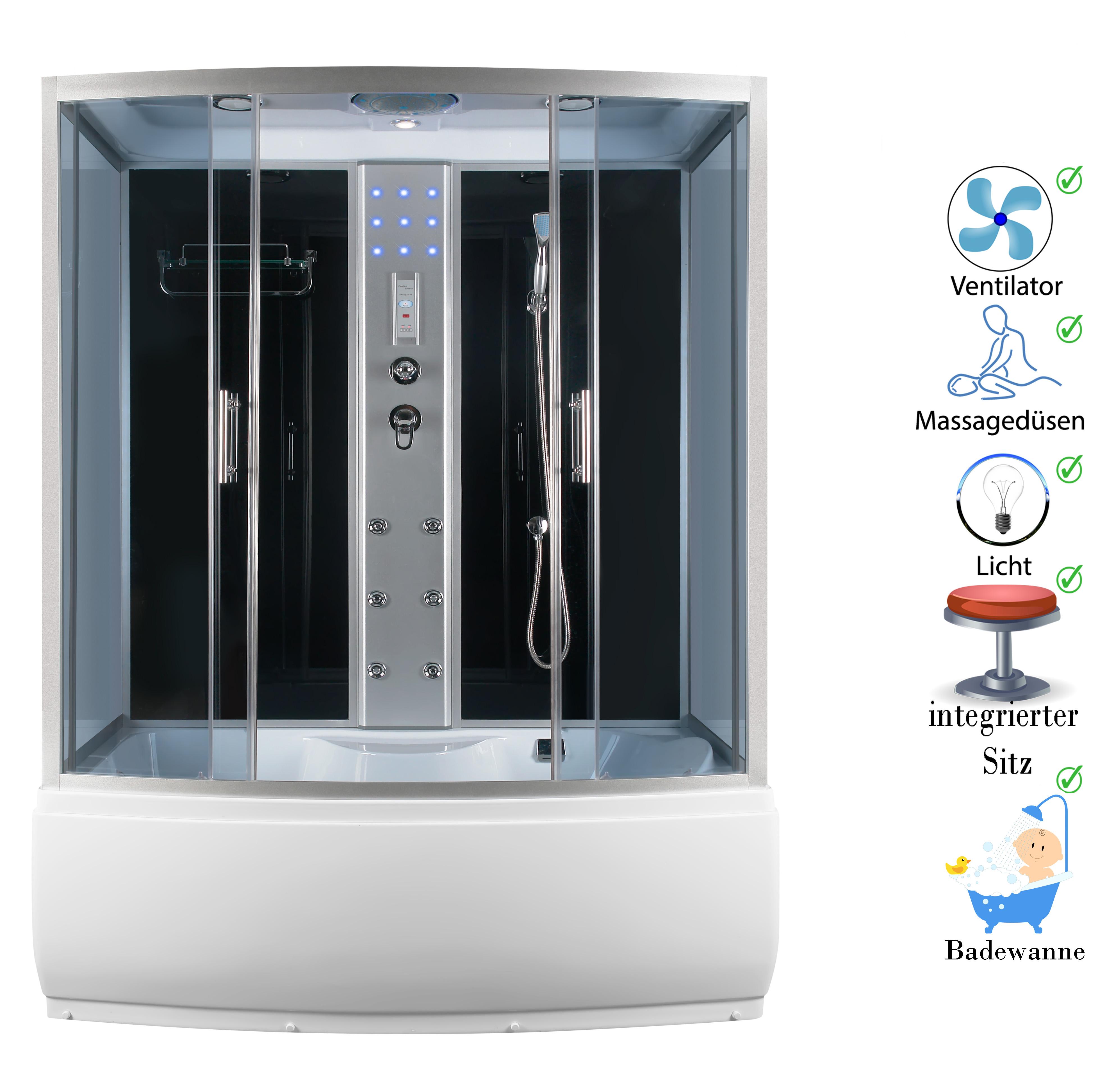 Cabine de douche pluie finie paroi baignoire 150 ebay for Baignoire cabine de douche integree