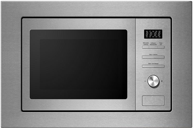 edelstahl einbau mikrowelle ofen mit rahmen 20liter 800watt mit kindersicherung ebay. Black Bedroom Furniture Sets. Home Design Ideas
