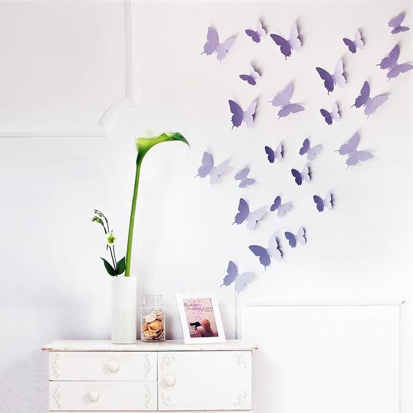 3d Schmetterlinge Wanddekoration Wanddeko Wandtattoos Wandsticker Wand Deko Neu