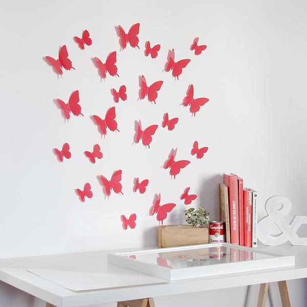 3D Schmetterlinge Wanddekoration Wanddeko Wandtattoos Wandsticker ...