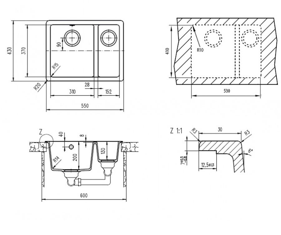 Teka granito lavabo fregadero cocina de fa aluminio ebay - Fregaderos de aluminio ...