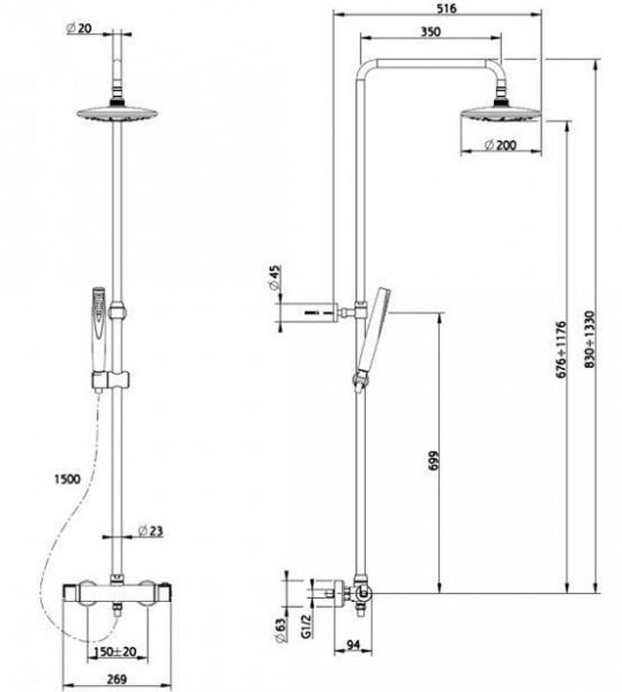 teka thermostat armatur duschset duscharmatur dusche duschs ule duschpaneel oval 8413509208808. Black Bedroom Furniture Sets. Home Design Ideas