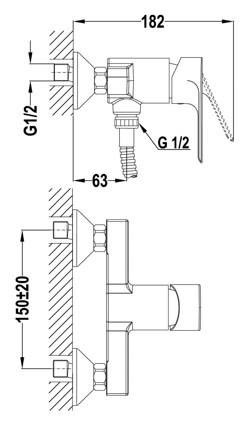teka duscharmatur armatur duschbatterie aufputz armatur. Black Bedroom Furniture Sets. Home Design Ideas
