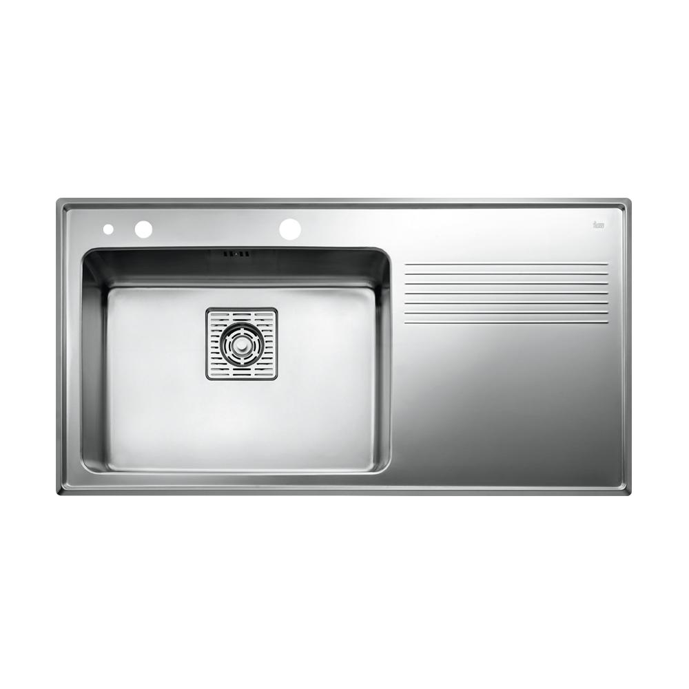 Teka Frame 1B 1D Plus Links Edelstahl Küchenspüle Einbauspüle Spüle ...