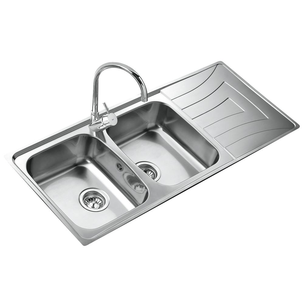 Teka 2 Becken Doppelspüle Edelstahl Küchenspüle Einbauspüle Küchen ...