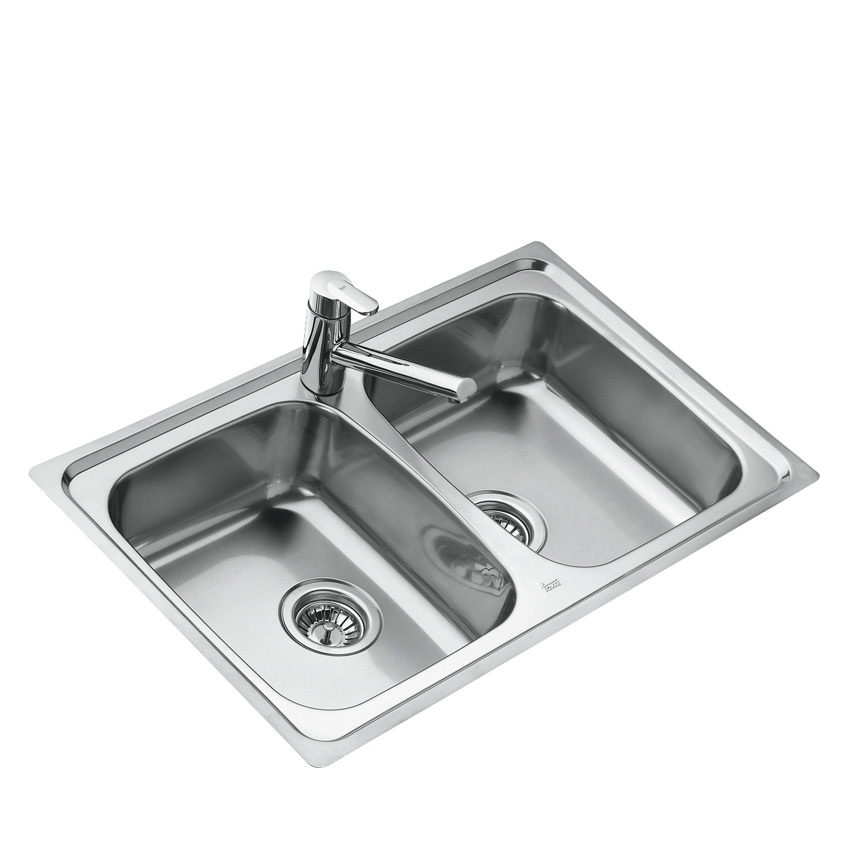 Teka Universo 2C CN M Edelstahl Küchenspüle Einbauspüle Küchen Spüle ...