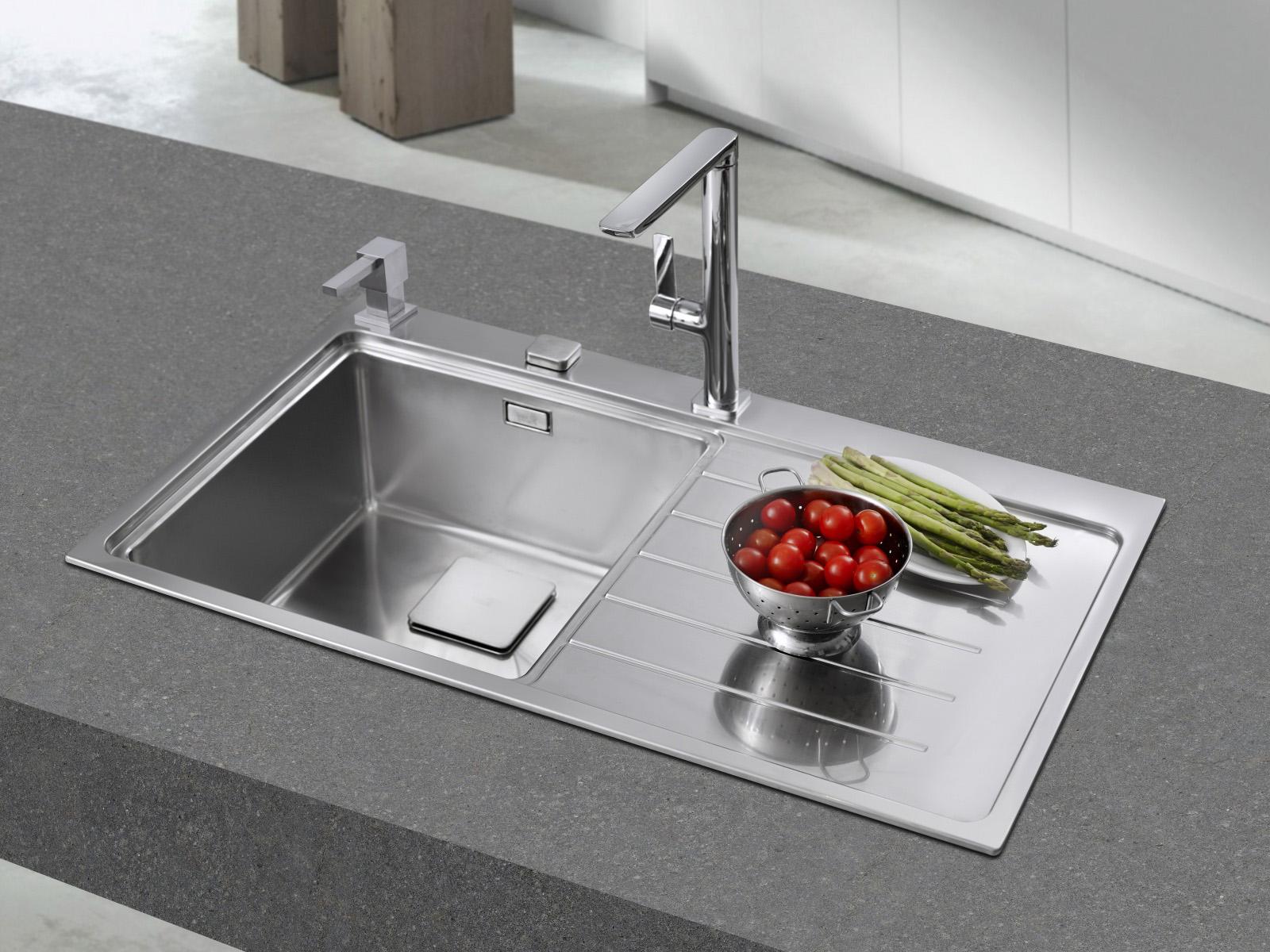 Teka Zenit 1B 1D Edelstahl Küchenspüle Links Einbauspüle Spüle +Zub ...